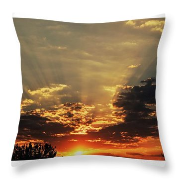 Early Morning Adrenaline Rush Throw Pillow