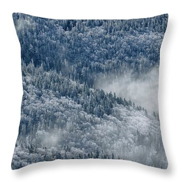 Early Morning After A Snowfall Throw Pillow by Sebastien Coursol