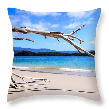 Early Morning At Cockle Creek Throw Pillow