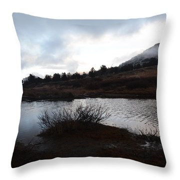 Early Morning At Favre Lake Throw Pillow