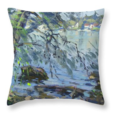 Early Morning At Fisherman's Park Throw Pillow