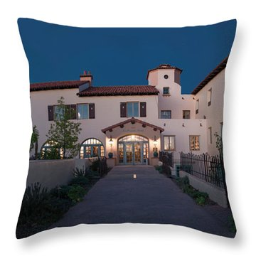 Early Morning At La Posada Throw Pillow by Charles Ables