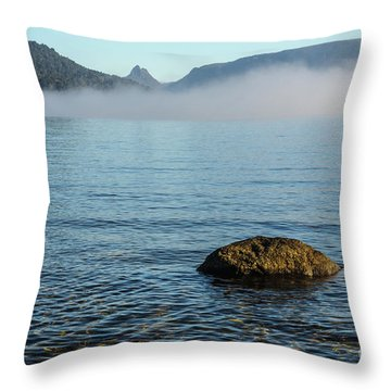 Throw Pillow featuring the photograph Early Morning At Lake St Clair by Werner Padarin