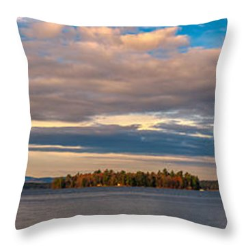 Early Morning At Lake Wentworth Throw Pillow
