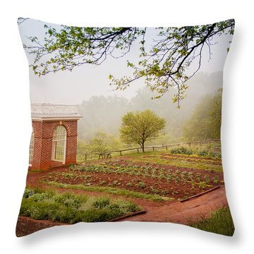 Early Morning At Monticello Throw Pillow