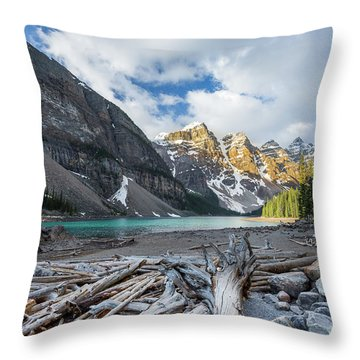 Early Morning At Moraine Lake Throw Pillow