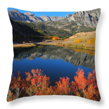 Early Morning At North Lake In Bishop Creek Canyon Throw Pillow by Jetson Nguyen