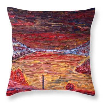 Early Morning At West Point Throw Pillow