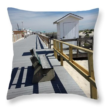Early Morning Boardwalk Throw Pillow