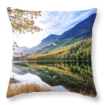 Early Morning Buttermere Throw Pillow