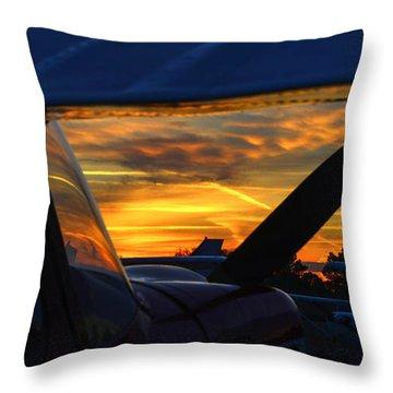 Early Morning Citabria Throw Pillow
