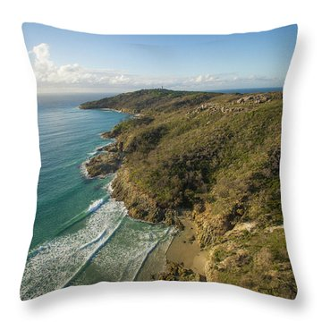 Early Morning Coastal Views On Moreton Island Throw Pillow