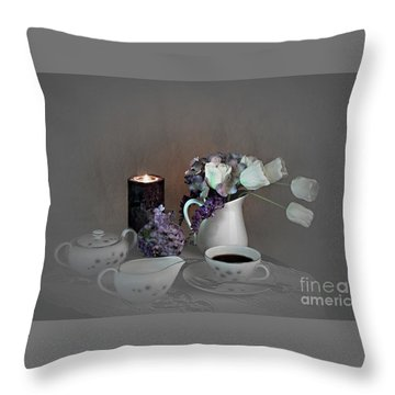 Early Morning Coffee Throw Pillow