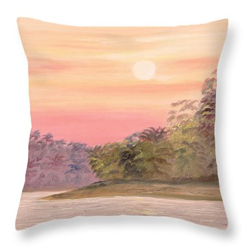 Throw Pillow featuring the painting Early Morning by Elizabeth Lock