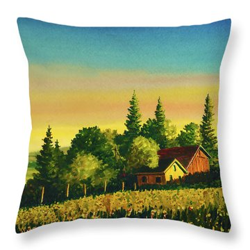 Early Morning Farmhouse Throw Pillow