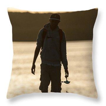 Early Morning Fishing Throw Pillow