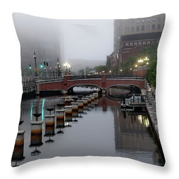 Early Morning Fog Throw Pillow