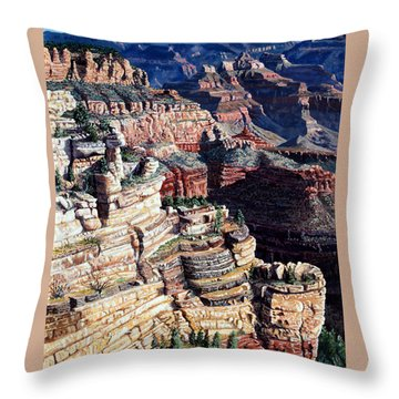 Early Morning From The South Rim Throw Pillow