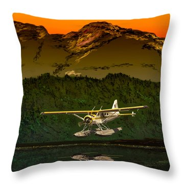 Early Morning Glass Throw Pillow