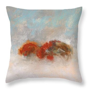 Early Morning Herd Throw Pillow