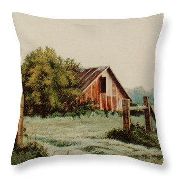 Early Morning In East Texas Throw Pillow