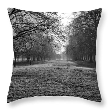 Early Morning In Hyde Park 16x20 Throw Pillow