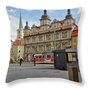 Early Morning In Prague Throw Pillow