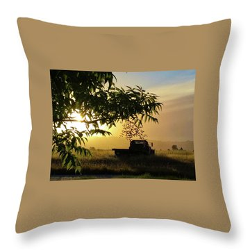Throw Pillow featuring the photograph Early Morning In Watsonville by Lora Lee Chapman