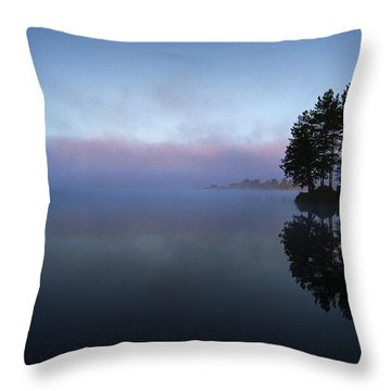 Early Morning Lake Nimisila Throw Pillow
