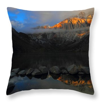 Early Morning Light At Convict Lake In The Eastern Sierras Throw Pillow by Jetson Nguyen