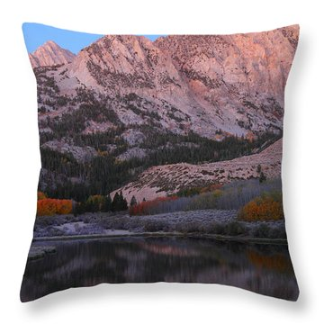Early Morning Light At North Lake In The Eastern Sierras During Autumn Throw Pillow by Jetson Nguyen