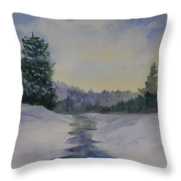 Early Morning Light Throw Pillow by Jan Cipolla