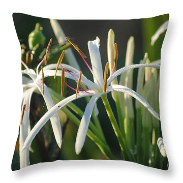 Throw Pillow featuring the photograph Early Morning Lily by LeeAnn Kendall