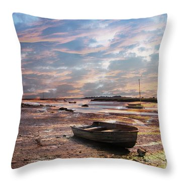 Early Morning Low Tide On The North Shore Throw Pillow