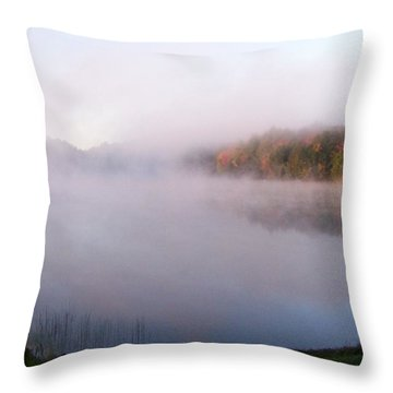 Early Morning On Craig Lake Throw Pillow by Jackie Mueller-Jones