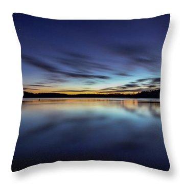 Early Morning On Lake Lanier Throw Pillow by Bernd Laeschke