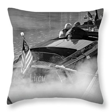 Early Morning On The Lake Throw Pillow