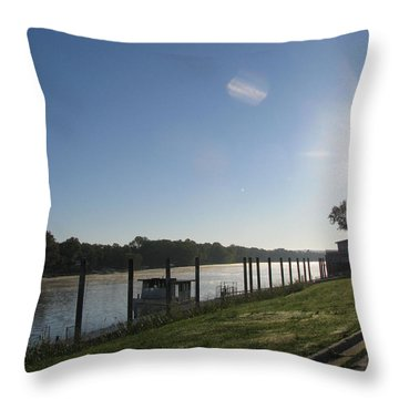 Early Morning On The Savannah River Throw Pillow