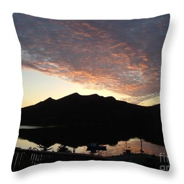Throw Pillow featuring the photograph Early Morning Red Sky by Barbara Griffin