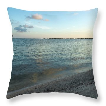 Throw Pillow featuring the photograph Early Morning Reflections by John M Bailey