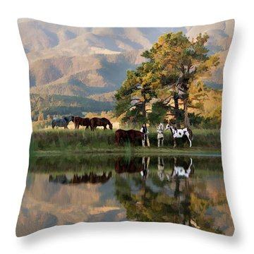 Early Morning Rendezvous Throw Pillow