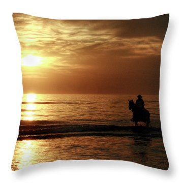 Early Morning Ride Throw Pillow