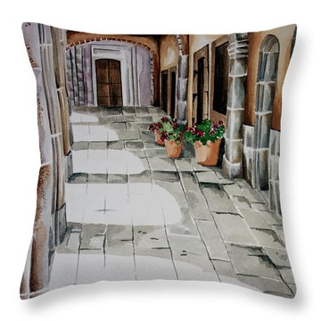 Early Morning San Miguel Throw Pillow