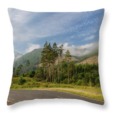 Early Morning Throw Pillow by Sergey Simanovsky