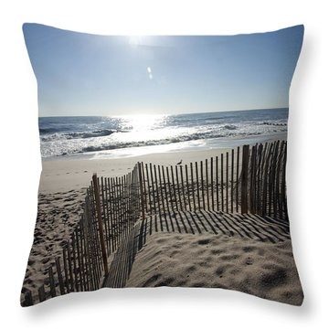 Early Morning Shadows Throw Pillow