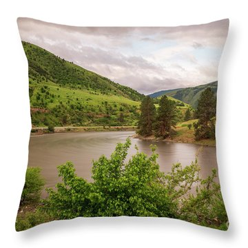 Early Morning Smoothy Waterscape Art By Kaylyn Franks  Throw Pillow