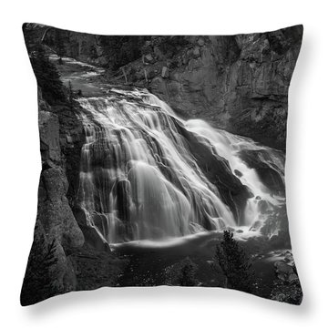 Early Morning Steam Falls Throw Pillow