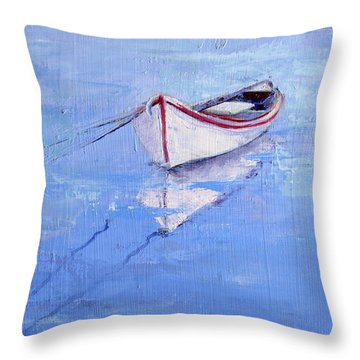 Early Morning Stillness Throw Pillow by Trina Teele