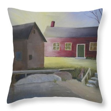 Early Morning Sun At The Shop Throw Pillow