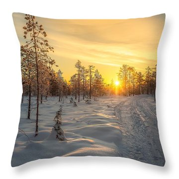 Early Morning Sun Throw Pillow by Rose-Maries Pictures